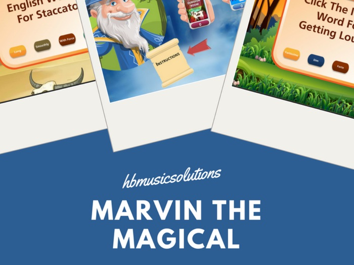 Marvin's Magical Musical Mystery Interactive Music Theory Game