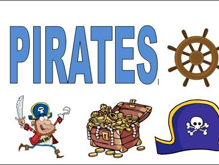 Pirate Flashcards and Colouring Sheets