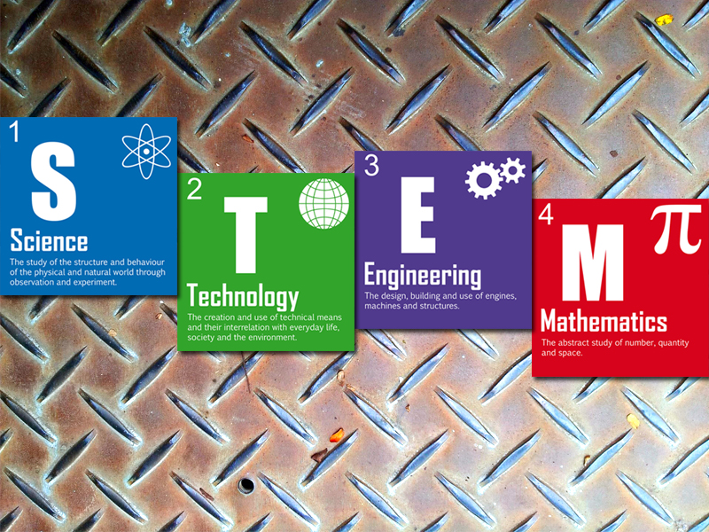STEM display cards.