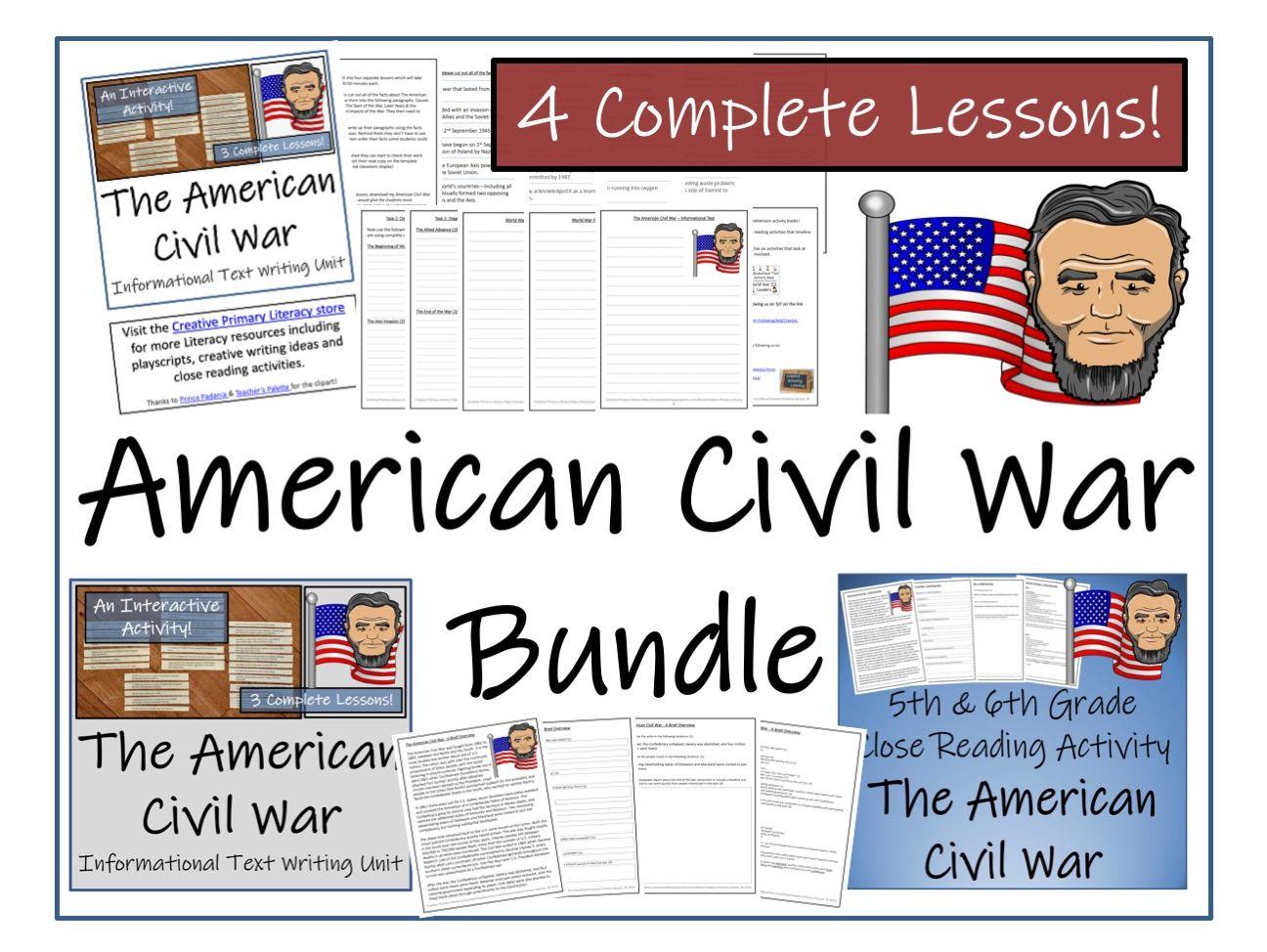 UKS2 History - Bundle of American Civil War Activities