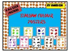 Italian/ English Colour Posters