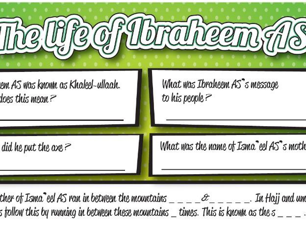 The Life of Ibraheem - Worksheet