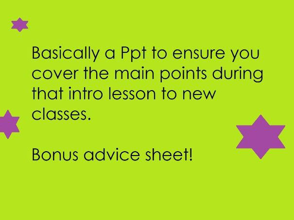 New class introduction expectation Ppt
