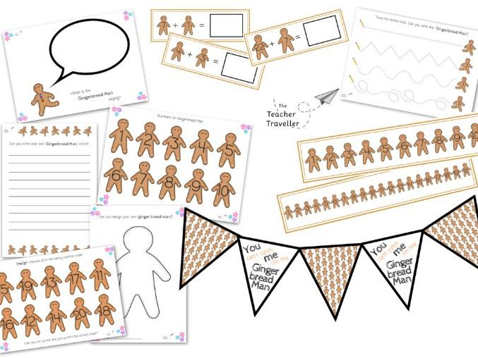 Huge Gingerbread Man Resources and Activities