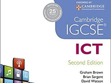 Cambridge IGCSE ICT 0417 Chapter 6 ICT Applications - Worksheets / Exam Questions