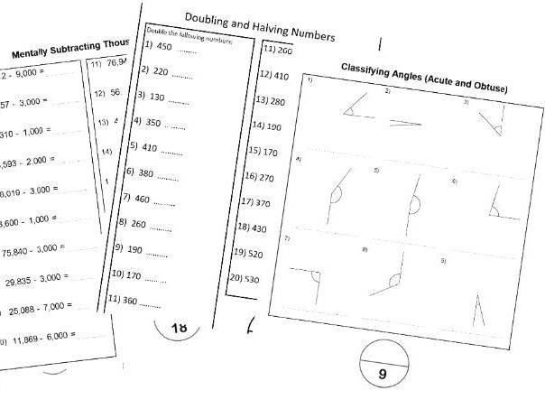Year 5 worksheets for the classroom/ homework/ tuition BUNDLE
