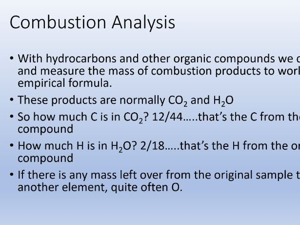 Combustion Analysis - A-Level Chemistry