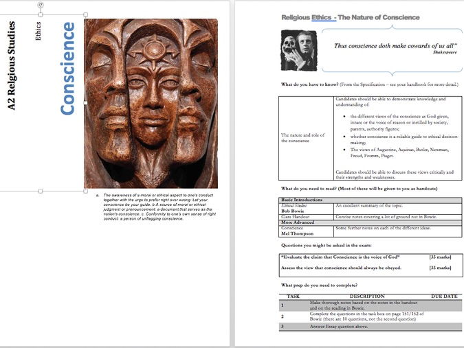 Conscience - Unit Guide and Presentations