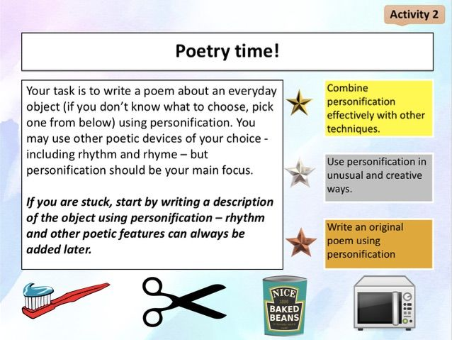 Personification in poetry - introduction to poetry
