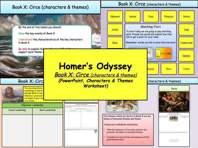Homer's Odyssey – Book X: Circe (characters & themes)