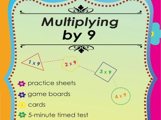 Multiplying by 9 - Multiplication Math Games and Lesson Plans