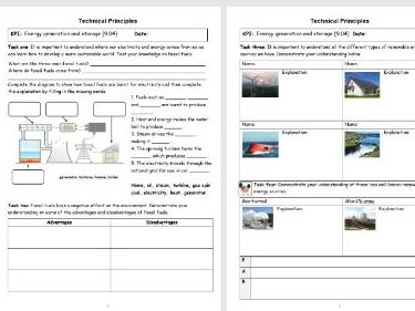 Year 9 Design and Technology booklet and PPT in line with new 1-9 GCSE