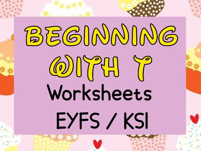 Beginning with T Worksheets EYFS / SK1
