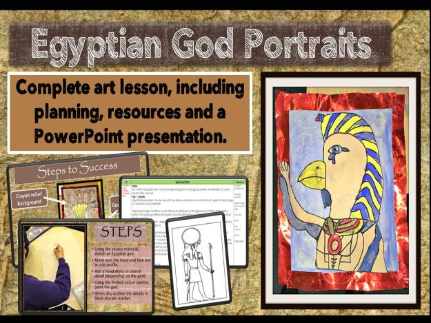 Egyptian God Portraits -Complete Lesson