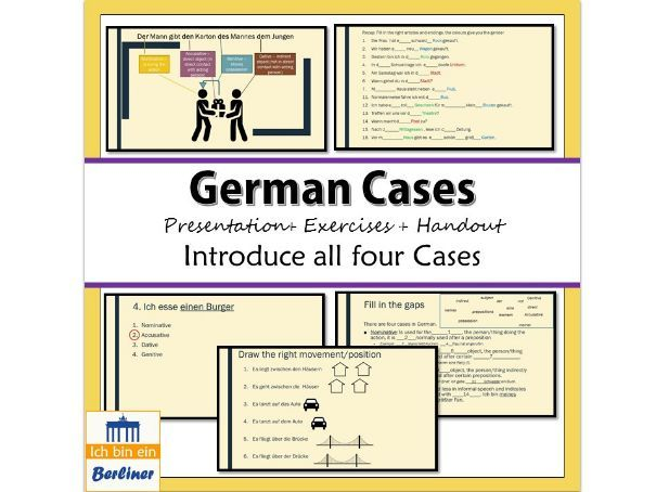 The cases in German
