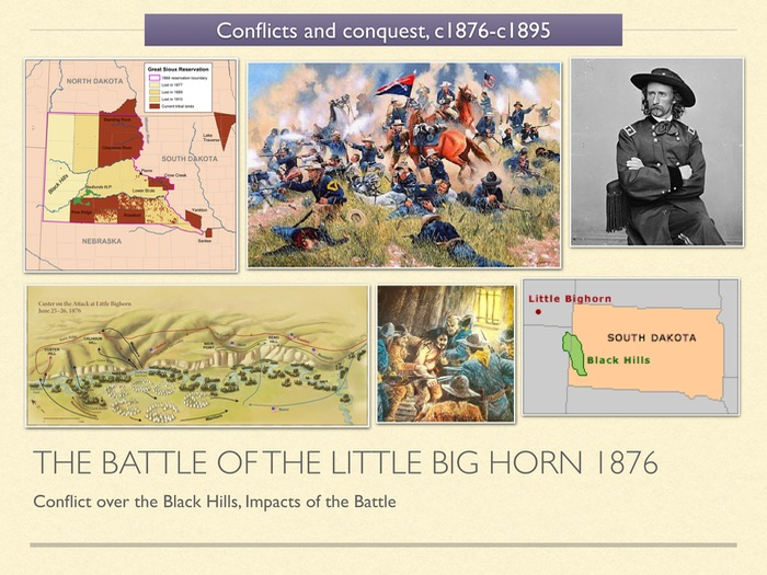GCSE History of American West Unit 3 The Battle of Little Big Horn 1876