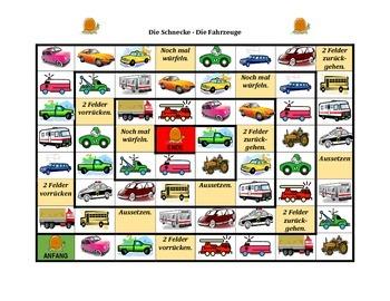 Fahrzeuge (Vehicles in German) Schnecke Snail game