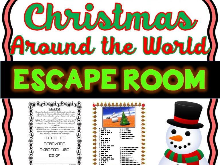 Christmas Around the World Escape Room - No Prep!