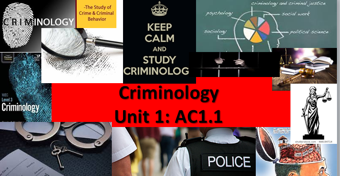 WJEC/Eduqas Criminology Level 3 (New Spec)Unit 1 Changing Awareness of Crime: AC1.1