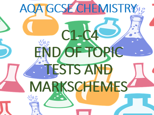 AQA GCSE Chemistry Atoms, Bonding and Moles (C1-C4) End of Topic Tests