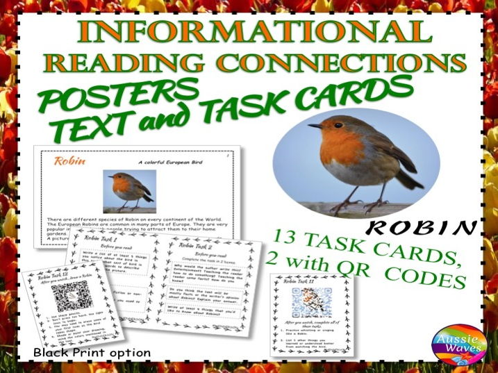 Reading Non-Fiction Informational Text and Task Cards BIRDS ROBINS