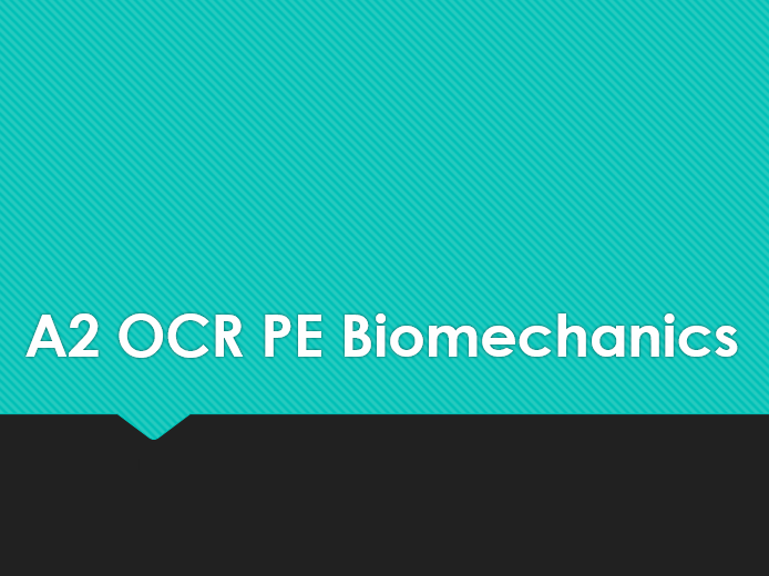A2 OCR PE- Angular Motion Test and Mark Scheme