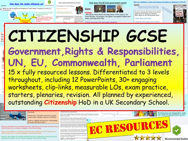 Citizenship GCSE 2