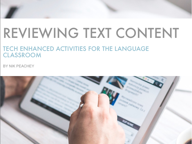 Tech Enhanced Activities - Reviewing Text Content