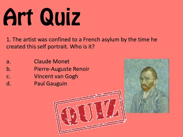 Art and Design End of Term / Starter Quiz