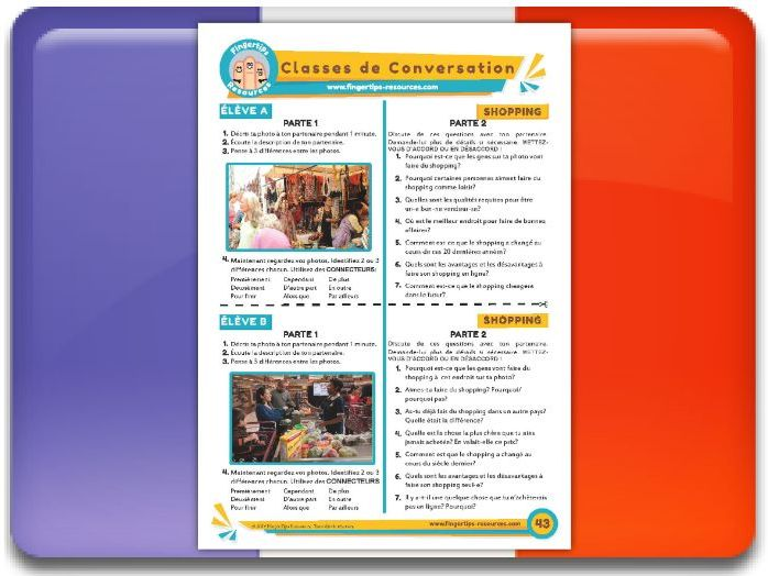 Le shopping - French Conversation Activity