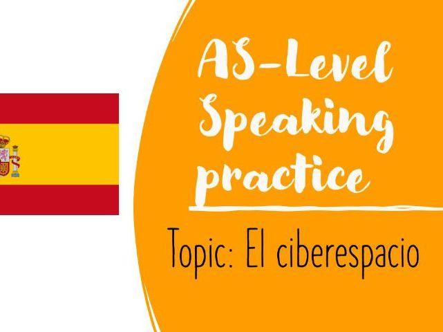 AS Speaking conversational booklet questions El ciberespacio