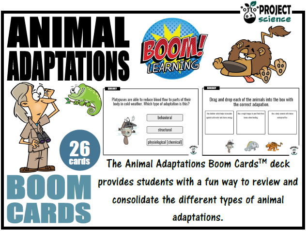 Animal Adaptations Boom Cards™ - Distance Learning