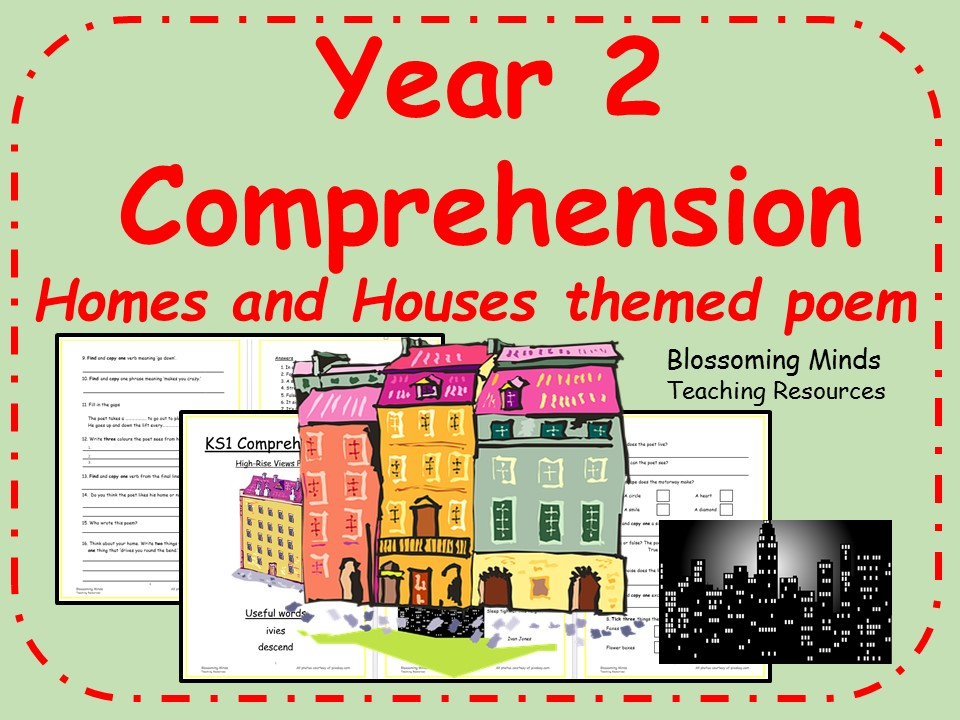 Year 2 poetry comprehension - Homes/Building theme