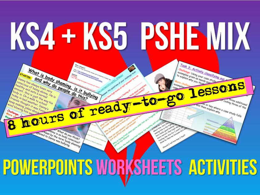 KS4 + KS5 PSHE 8 Lessons