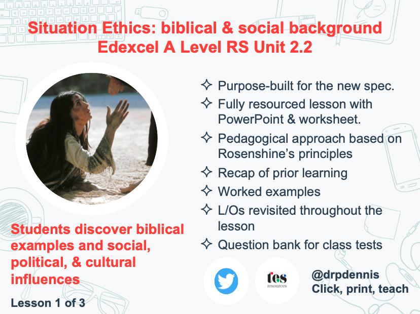 Situation Ethics: biblical examples & social, political, & cultural influences (Edexcel new spec)