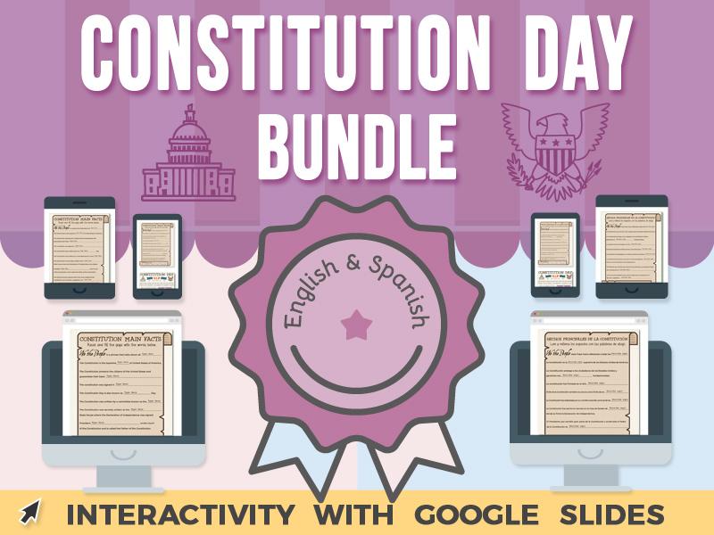 Constitution Day - Google Slides BUNDLE
