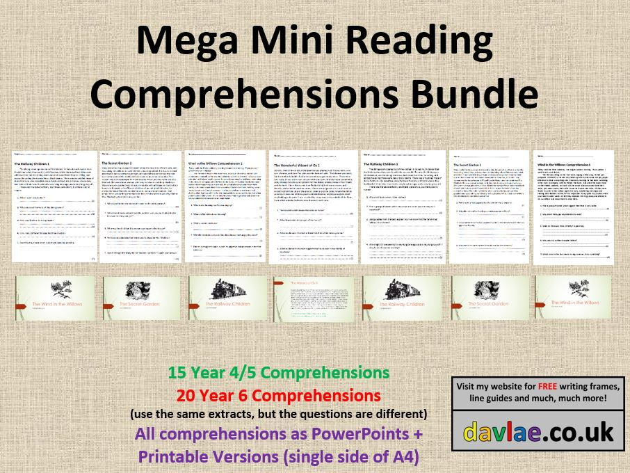 Mini Comprehension Mega Bundle