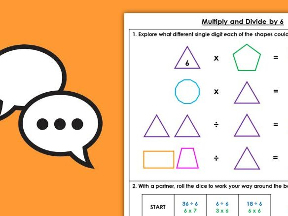 Year 4 Multiply and Divide by 6 Autumn Block 4 Maths Discussion Problems
