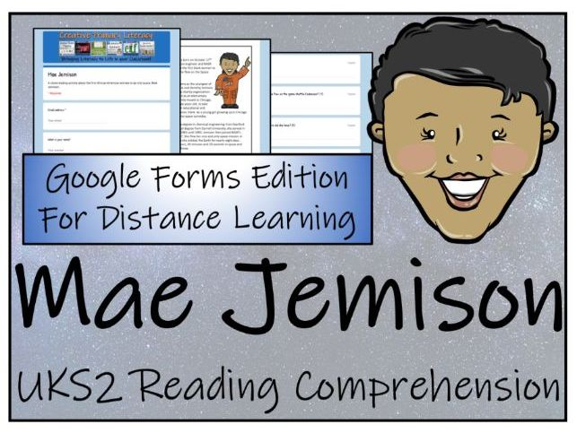 UKS2 Mae Jemison Reading Comprehension & Distance Learning Activity