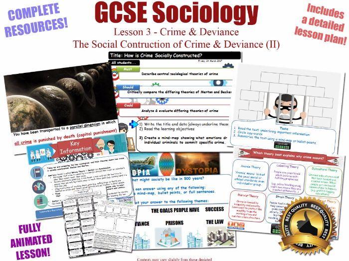 Social Construction of Crime - Merton & Becker - Crime & Deviance L3/20 [ AQA GCSE Sociology - 8192]