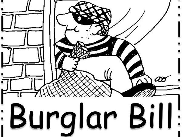 Burglar Bill Worksheets and Activities: Sequencing, Posters, Comparison work for creative writing