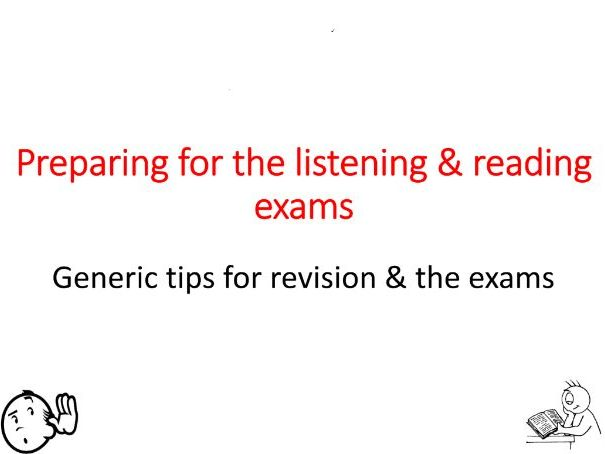 French - Tackling the GCSE listening & reading papers