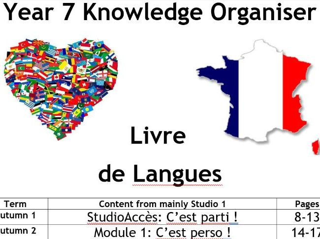 Studio 1 French Parallel Text and Vocabulary booklet