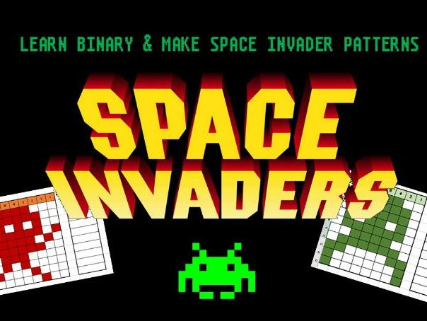 Binary Patterns - Space Invaders Style - Maths - Computer Science