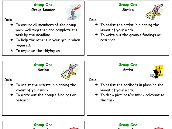 Group work badges