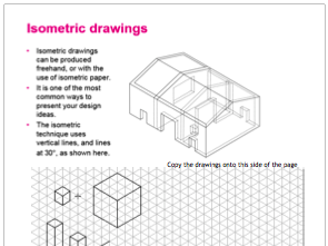 Isometric worksheet