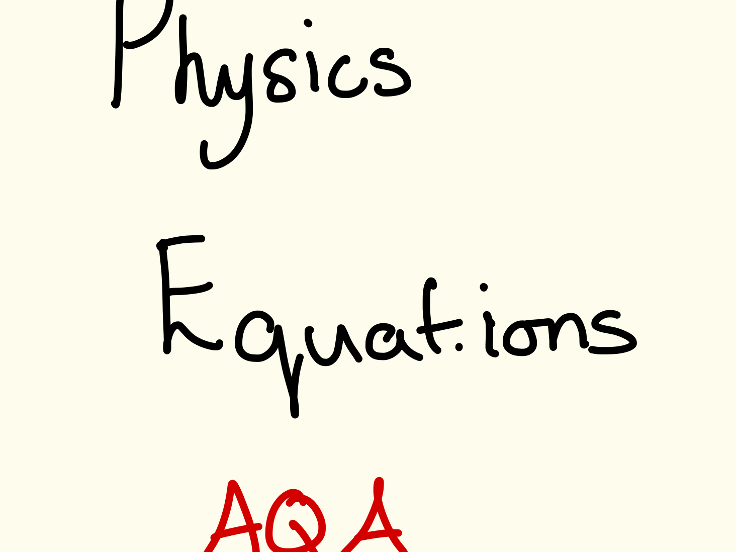 GCSE (1-9) Physics AQA equations - complete with units