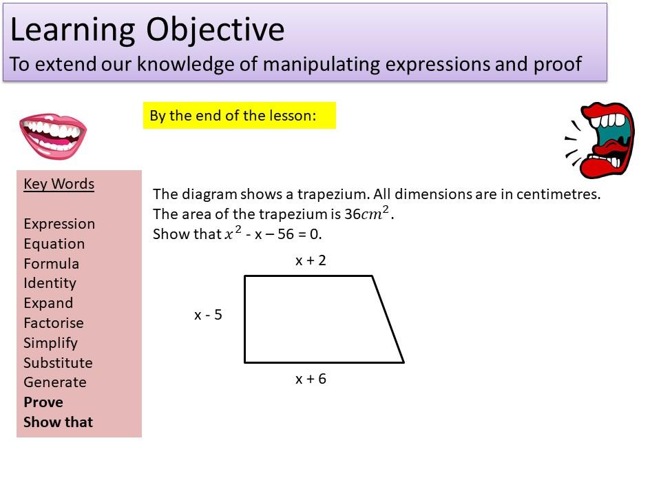 GCSE 1-9 Expressions & Algebraic Proof