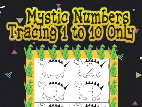 Mystic Numbers Tracing 1 to 10 Only Activity Book 100 Pages