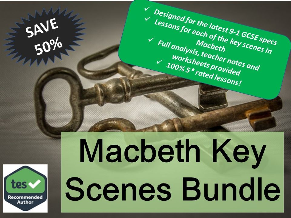 Macbeth Key Scenes Bundle AQA GCSE